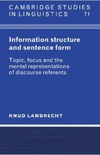 Informational structure and sentence form