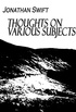 Thoughts on Various Subjects (English Edition)
